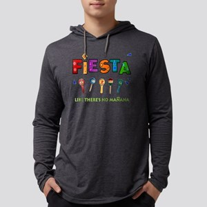 Fiesta Like Theres No Manana Mens Hooded Shirt